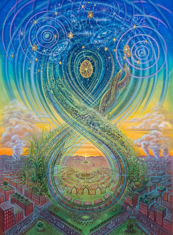 Regenerating heaven on earth by Amanda Sage, transforming urban into oasis, burning man village